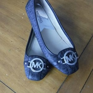MK Logo Michael Kors Fulton Moc Leather  6.5